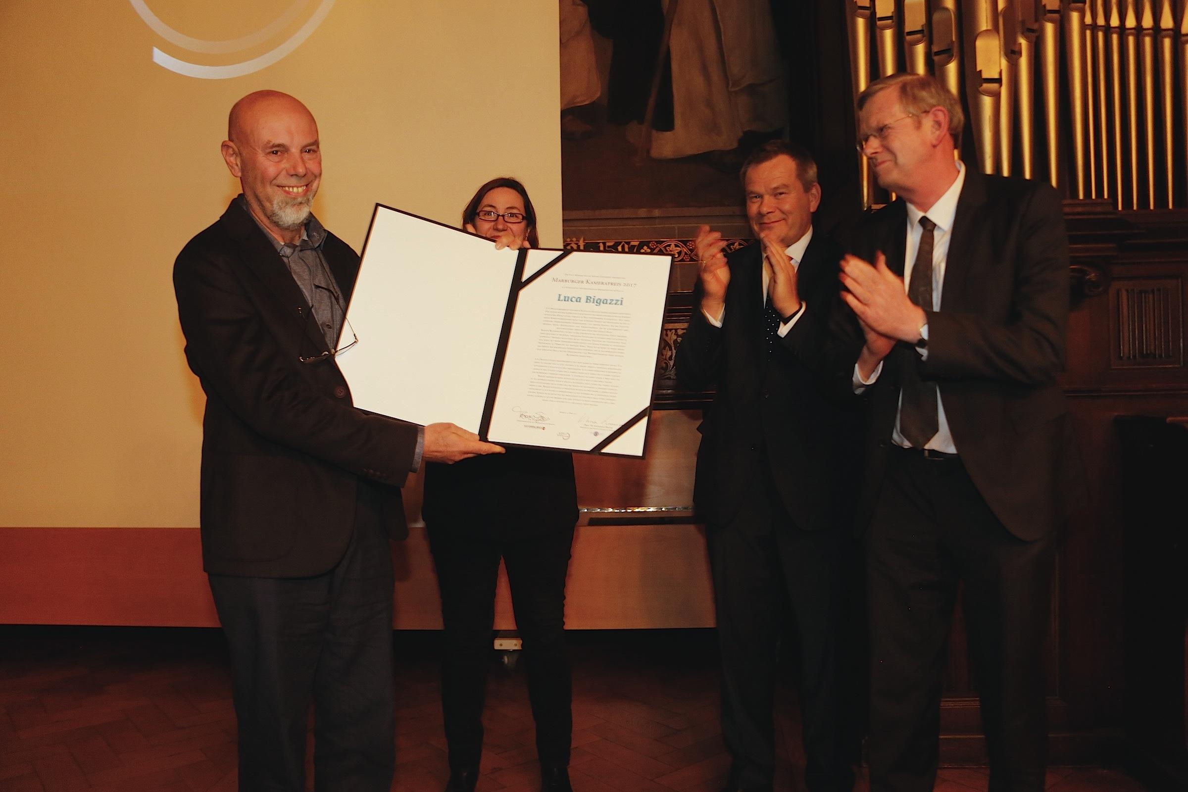 Verleihung des Marburger Kamerapreises 2017 an Luca Bigazzi © Achim Friederich