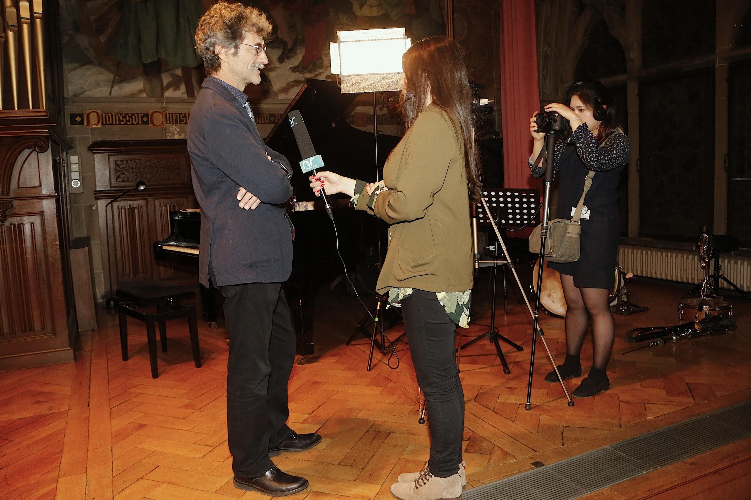 Die hFMA Netzreporter interviewen Laudator Silvio Soldini © Achim Friederich