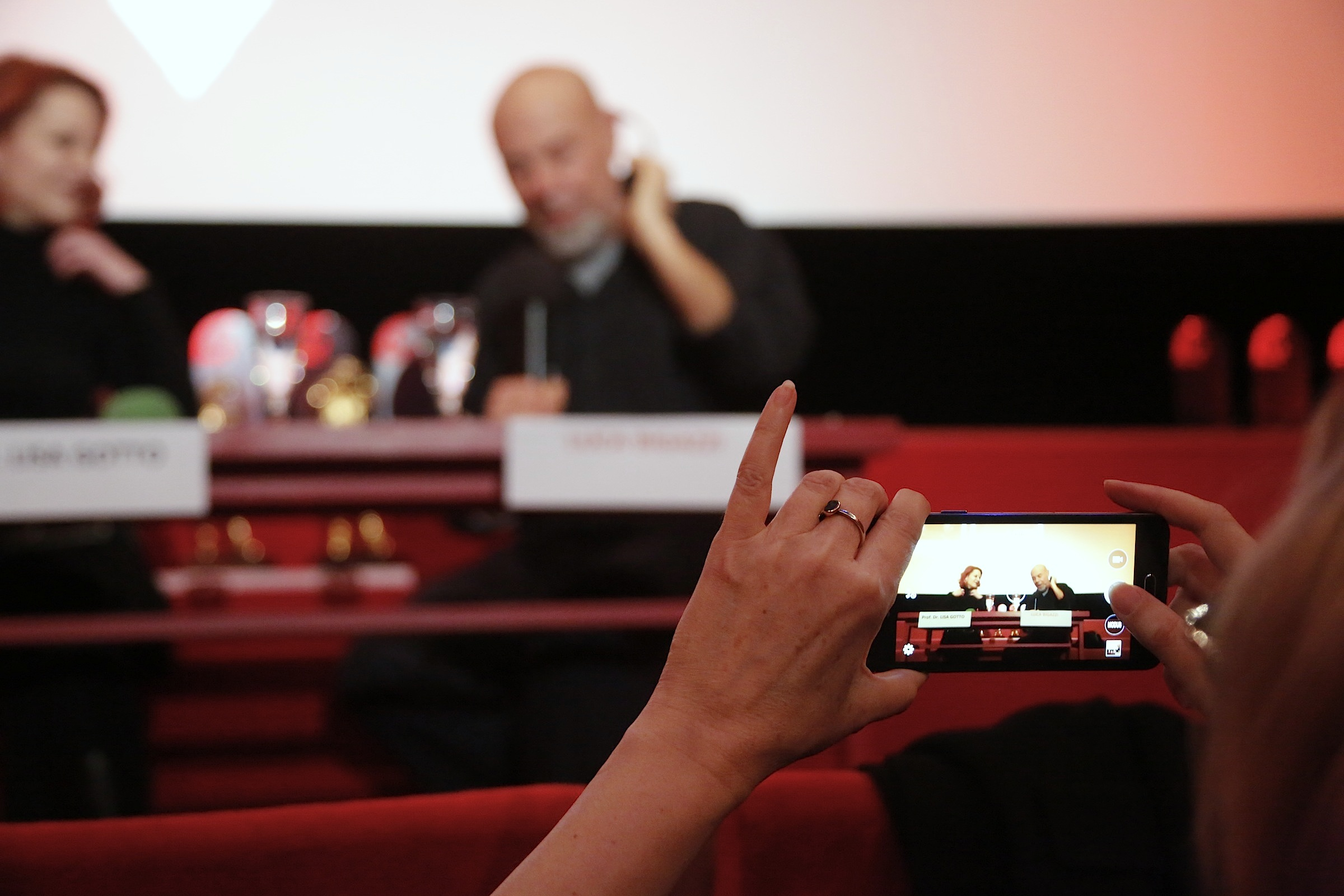 Luca Bigazzi im Gespräch mit Lisa Gotto © Achim Friederich